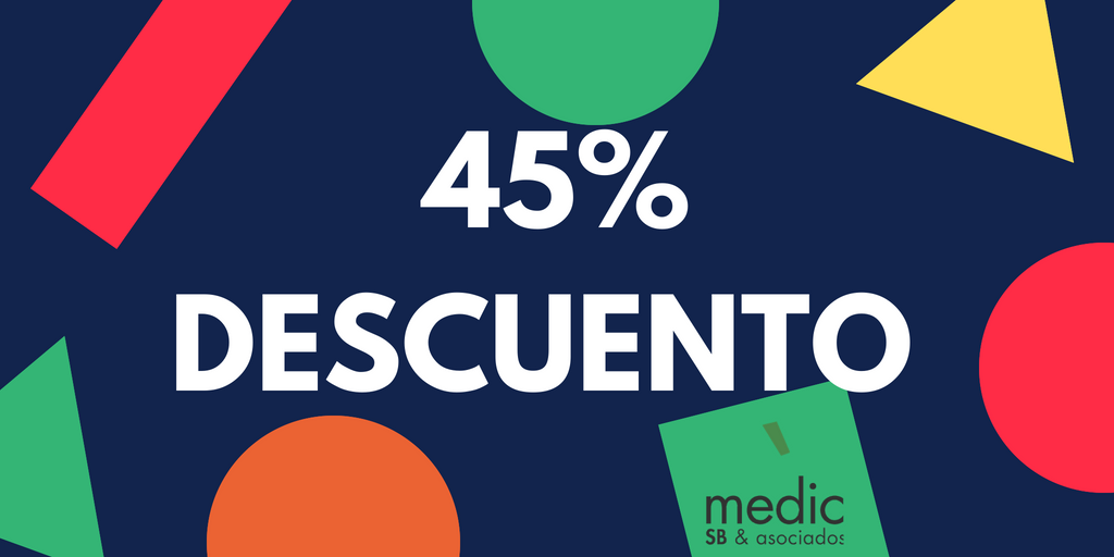 45% descuento certificados médicos